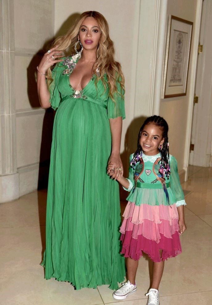 "Last night Beyoncé and Blue Ivy engaged in their favourite pasttime: wearing Gucci and attending fancy things together, namely the <a href=""http://www.beyonce.com/"">Beauty and the Beast premiere</a>. Bey wore a emerald green chiffon dress, whilst Blue—in the tiniest and most casual way possible—wore a modified version of this <a href=""https://www.net-a-porter.com/us/en/product/757433/Gucci/velvet-trimmed-embellished-tiered-silk-chiffon-gown?cm_mmc=LinkshareUK-_-TnL5HPStwNw-_-LinkshareUS-_-TnL5HPStwNw-_-Custom-_-LinkBuilder&siteID=TnL5HPStwNw-uO0RVbQz5UtPqhrjznvVcw&Skimlinks.com=Skimlinks.com&siteID=TnL5HPStwNw-12j4cv9Dwyxp8QoiNjt6QA&Skimlinks.com=Skimlinks.com"">velvet-trimmed embellished tiered silk-chiffon gown</a> which retails, in adult-form, for a little over $34,000."