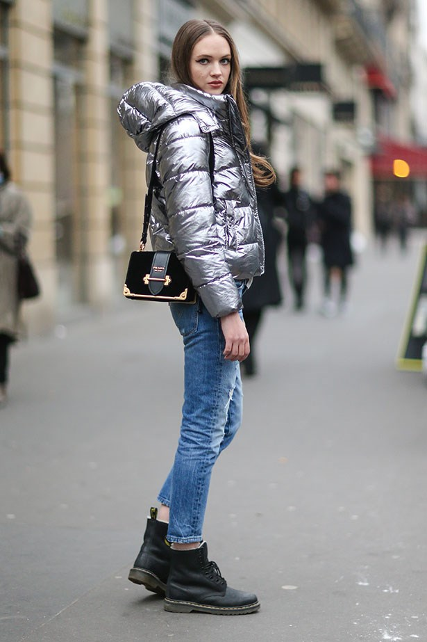 """<strong>5. Puffer Jacket </strong> <br></br> """"The sporty puffer is still trending. If it gets too hot, try the shrugging technique: artfully slouching your jacket off the shoulders."""""""