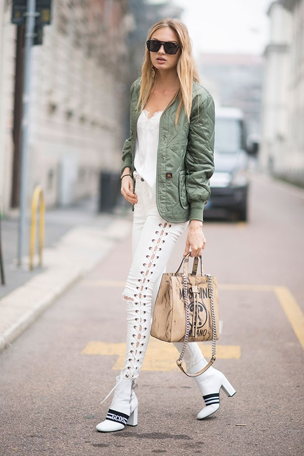 """<strong>6. White Boots </strong> <br></br> """"Yes, white boots. They're strangely versatile – try them with a floaty dress or a structured trouser and knit combo."""""""
