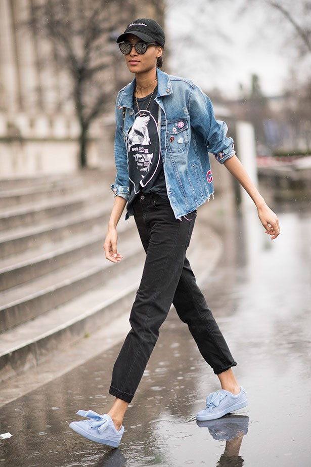 """<strong>7. Denim Jacket </strong> <br></br> """"When can you not wear a denim jacket? This impending winter, try it buttoned up all the way, worn like a shirt."""""""