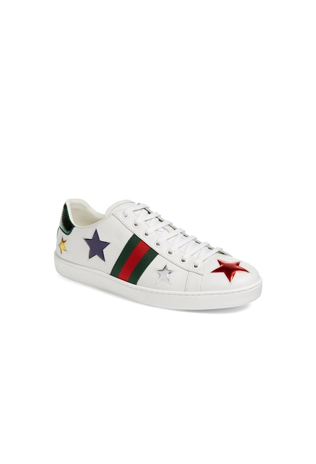 "<p> <strong>These leather sneakers, $675.</strong> <p> For playing chasey. <p> Sneakers, $675, <a href=""https://www.luisaviaroma.com/gucci/women/sneakers/65I-I9H028/lang_EN/colorid_OTA3Ng2?SubLine=shoes&CategoryId=97"">Gucci at luisaviaroma.com</a>"