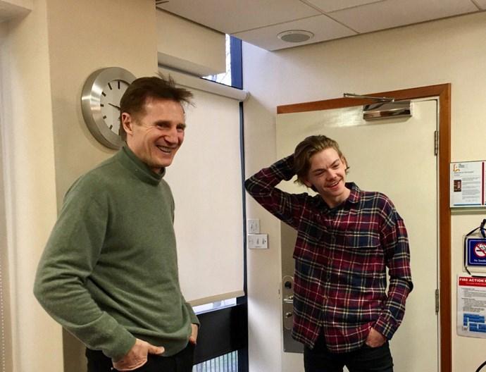 "<p>Jamie (Liam Neeson) and Sam (Thomas Brodie-Sangster) <a href=""https://twitter.com/emmafreud/status/832196418974646277"">reunite</a>!"
