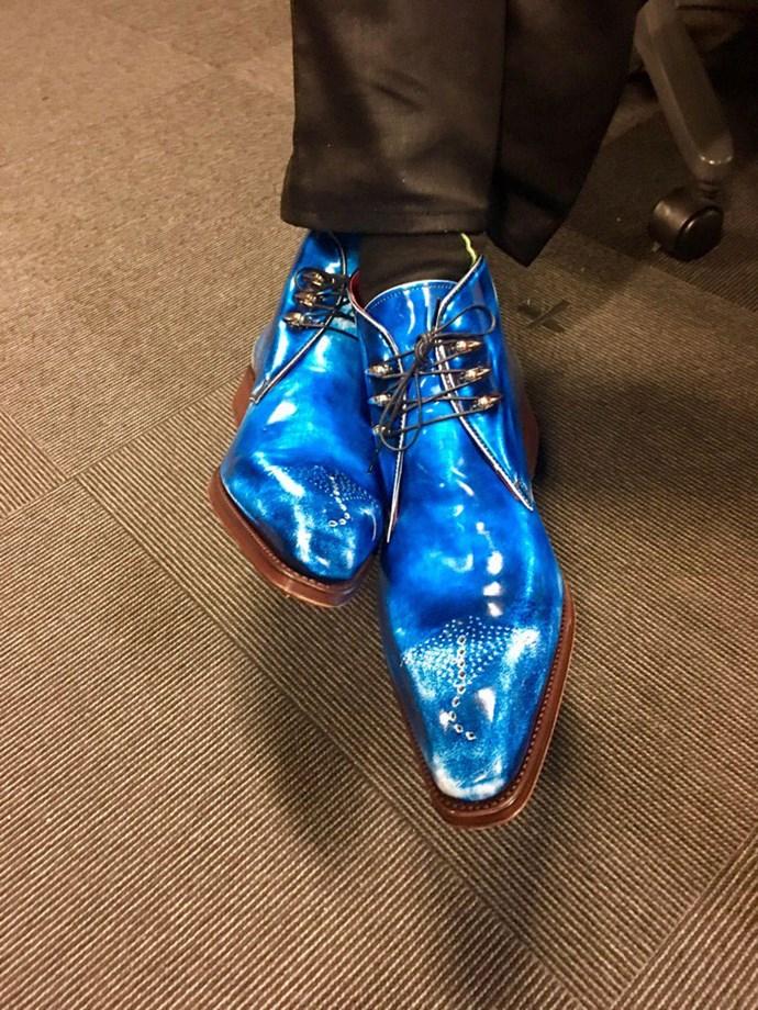 """<p><a href=""""https://twitter.com/emmafreud/status/838010251244888064"""">Sneak peek</a> of someone's shoes..."""