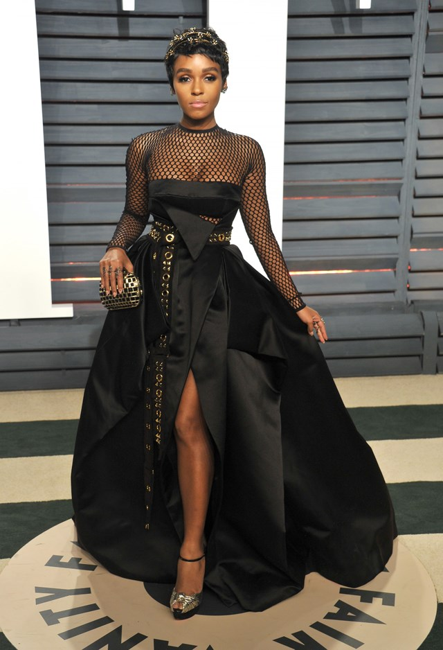 Janelle Monae at the <em>Vanity Fair</em> Oscars party