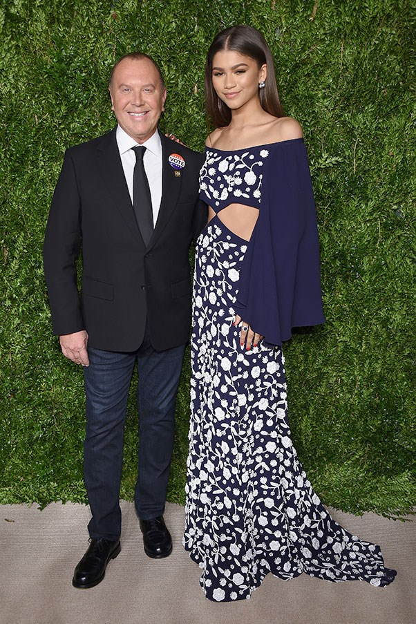 With Michael Kors in Michael Kors Collection at the CFDA Awards, November 2016.