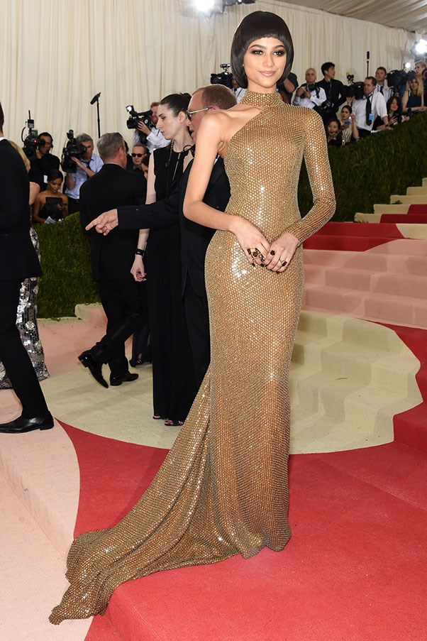 In MIchael Kors at the Met Gala, May 2016.