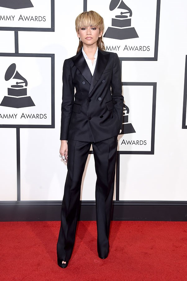 In Dsquared2 at the Grammys, February 2016.