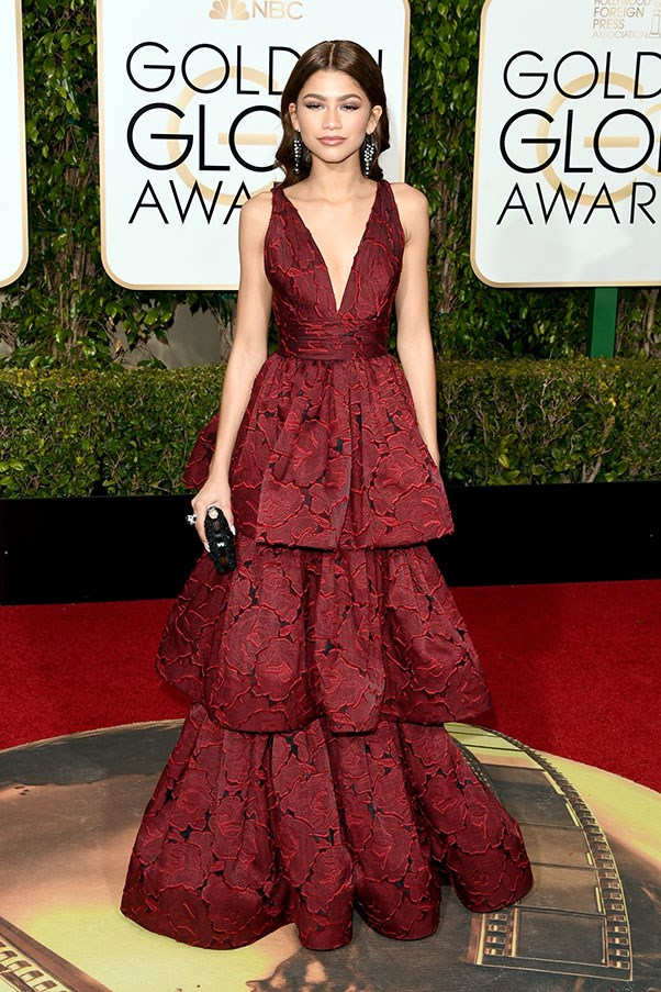 In Marchesa at the Golden Globes, January 2016.