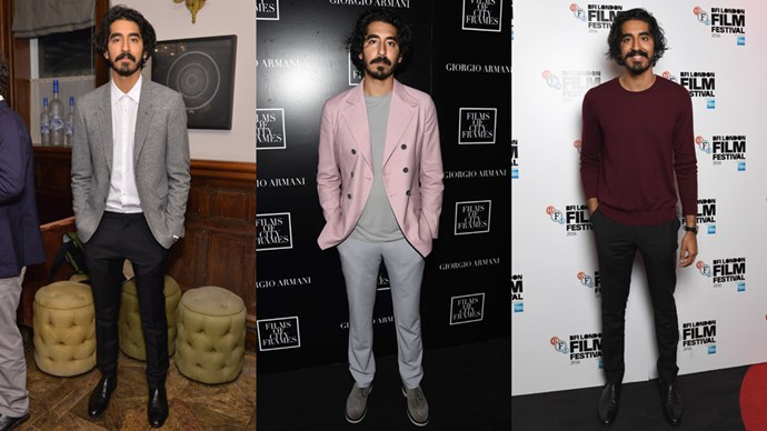 With his wild hair, adorable smile and sweet charm, Dev Patel has risen very quickly to the top of our 'must watch' list. Now! Imagine our surprise when we found out that not only is Dev super cute and an all-round doll, he's actually got a sweet style streak going, too.