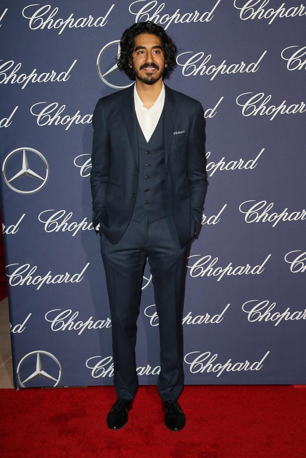 In a three-piece—sans tie—at the Palm Springs International Film Festival Film Awards Gala.