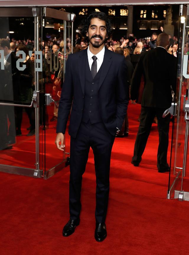 In navy-blue at the London premiere of <em>Lion</em>.