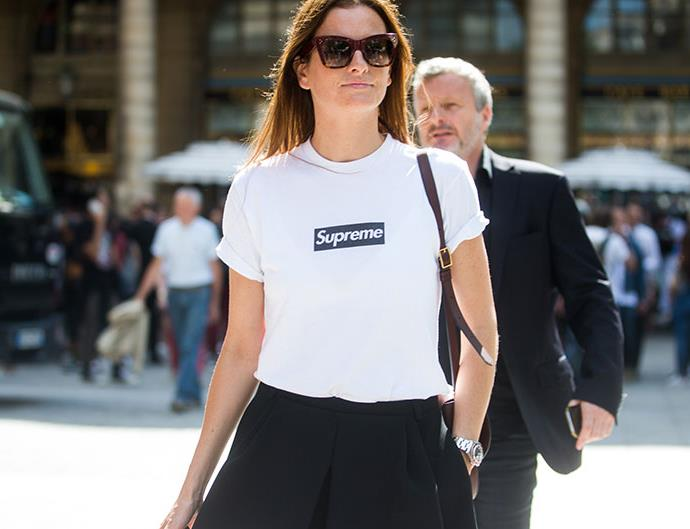 Fashion Girls Wearing Supreme