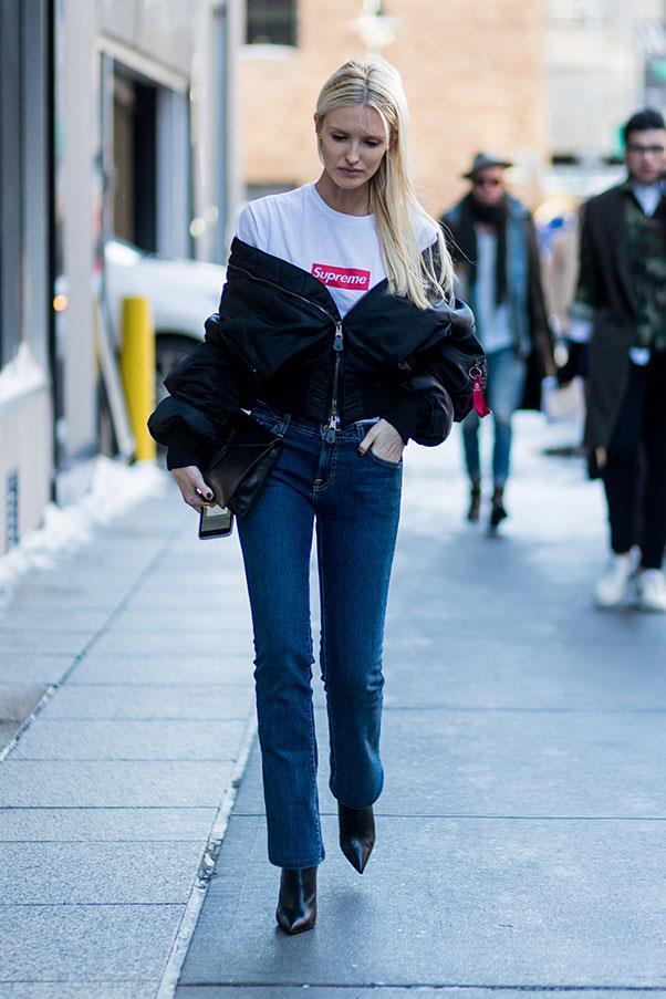 Kate Davidson Hudson at New York fashion week.