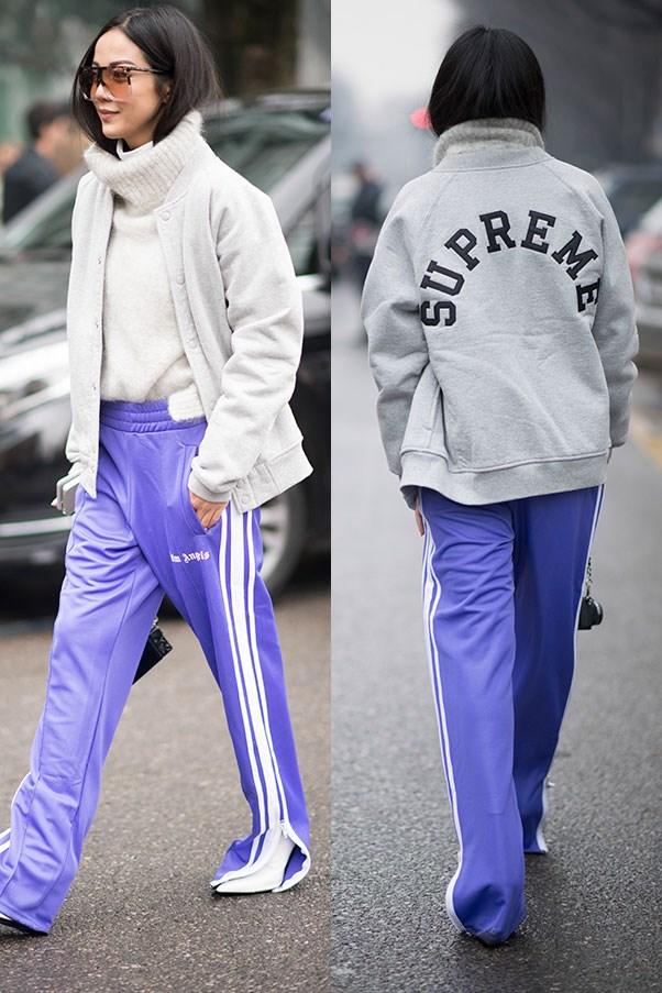 Street style at Milan fashion week.