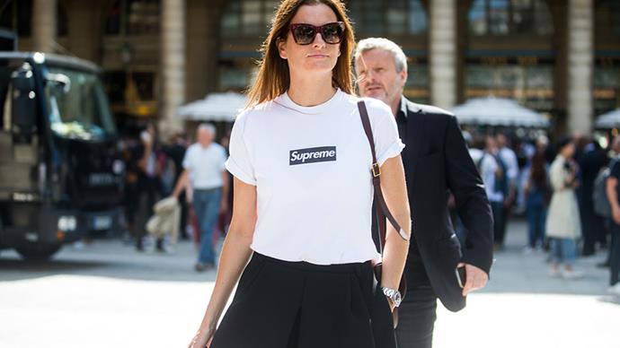 Street style at men's fashion week.