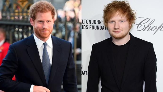 Prince Harry and Ed Sheeran.