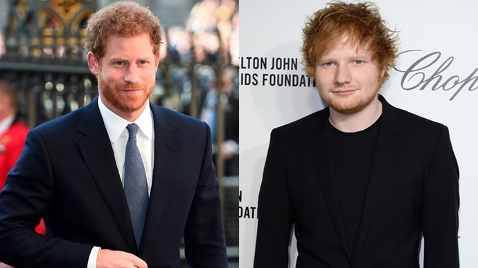 Prince Harry and Ed Sheeran.