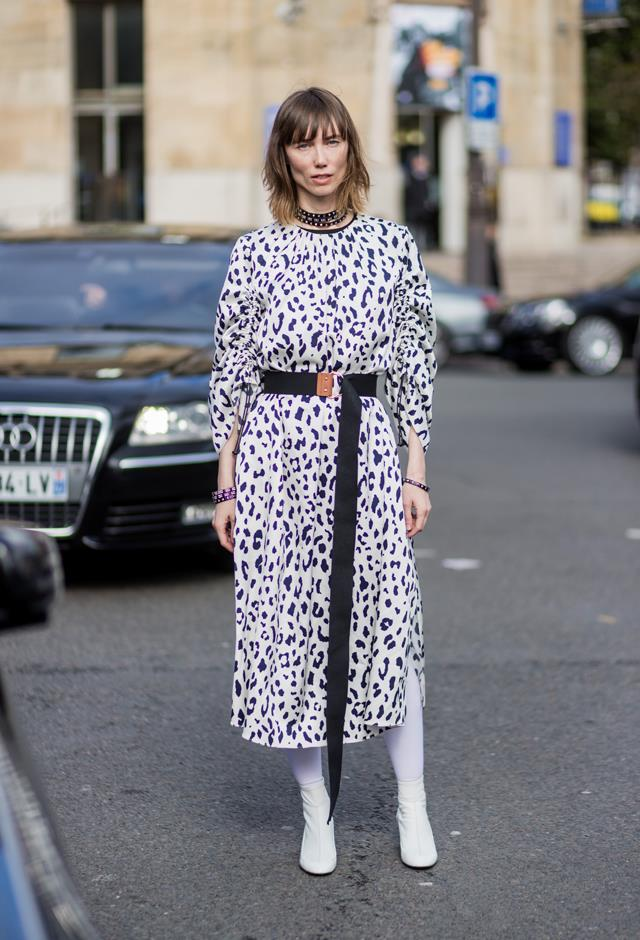 <p><em>White boots</em><p> Unexpected as they may be, white boots are one of the style saviors of the season.