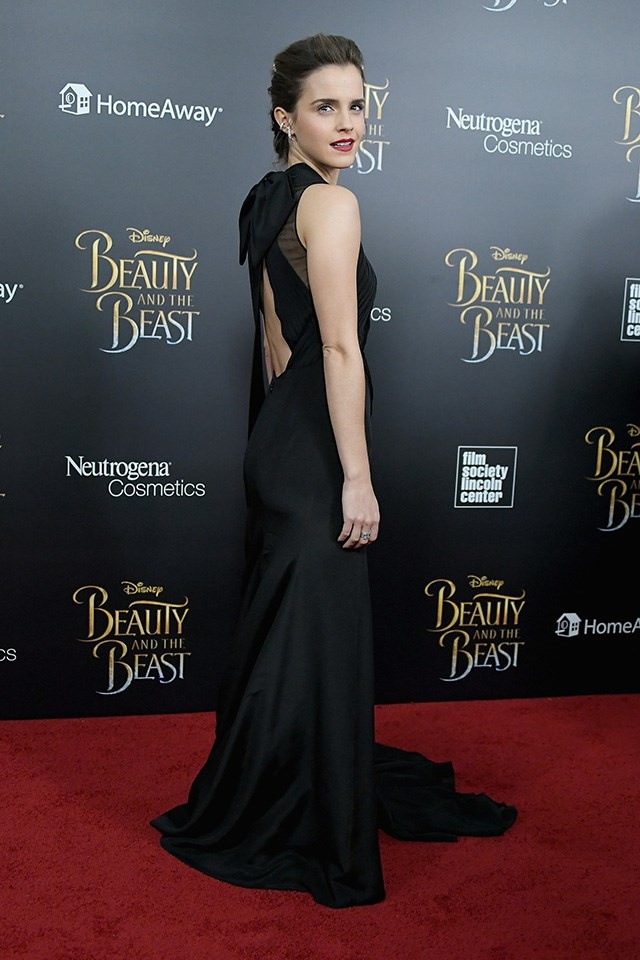 The dress also featured an open back.