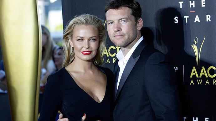 **Lara and Sam Worthington** <br><br> These two don't give anything away. We know they were married sometime in 2014, but we don't really know anything about it.