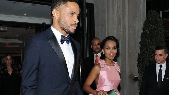 **Kerry Washington and Nnamdi Asomugha** <br><br> We're not surprised we haven't seen any pictures from Kerry and Nnamdi's wedding, we actually don't even have any proper pictures of them together on the red carpet or at an event.