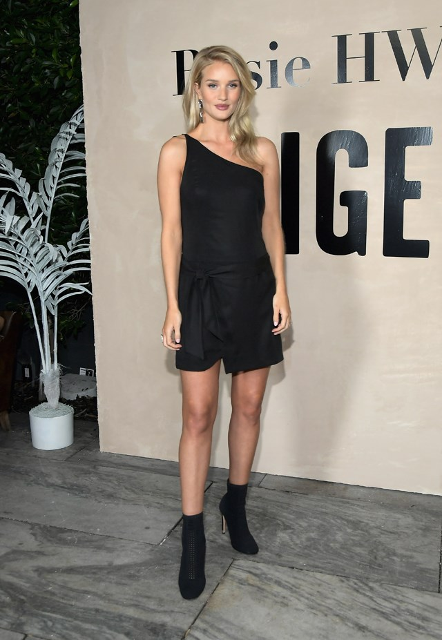 Rosie wore one of her own PAIGE x RHW dresses to the launch of the collection.
