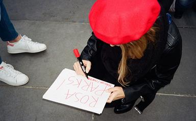 See Phoebe Tonkin's Photo Diary From Paris Women's Rights Rally