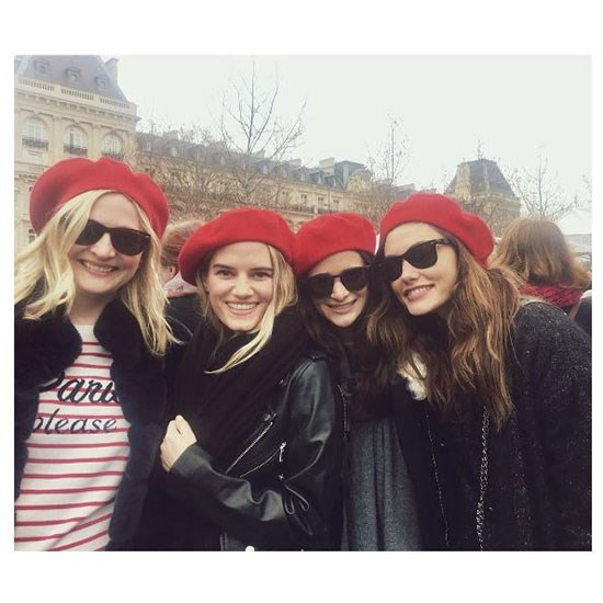 """Phoebe Tonkin shares her photo diary from International Women's Day exclusively with <em>ELLE </em>Australia. She said of the experience """"I would have done something similar in LA or NYC had I not been in Paris. Having done the women's march in January, it feels really important to me to show up to these events and rally together with others in solidarity. The energy at both the March in downtown LA and that of the rally at Republique were the same—a lot of joy, support, and unity."""""""