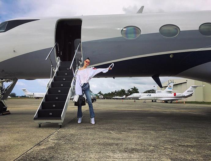 Bella Hadid had a very busy past couple of weeks. So, it's only natural that Bella would choose to unwind the exact same way we all do. By hiring a private jet and taking her friends on a holiday to Jamaica. You guys have done that, right? Right?