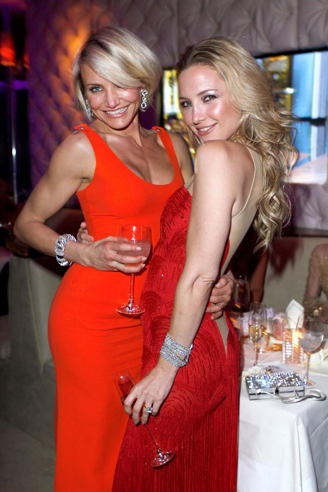 """<p><strong>Cameron Diaz and Kate Hudson </strong><p> These two actresses were both linked to former New York Yankee Alex Rodriguez. It was rumoured that Hudson thought Diaz had hooked up with Rodriguez as """"payback"""" for Hudson's own liaison with Diaz's recent ex Justin Timberlake. They'd buried the hatchet by 2012, when they were photographed at <em>Vanity Fair</em>'s Oscar party looking very friendly. As recently as September 2016, they even partied together at Nicole Richie's birthday."""