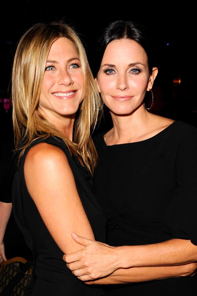 """<p><strong>Jennifer Aniston and Courtney Cox</strong><p> In a double-dose of """"Can you believe those two dated?"""", the former <em>Friends</em> co-stars have shared one hook-up: Both actresses dated Counting Crows frontman Adam Duritz back in the '90s. Aniston dated Duritz first."""