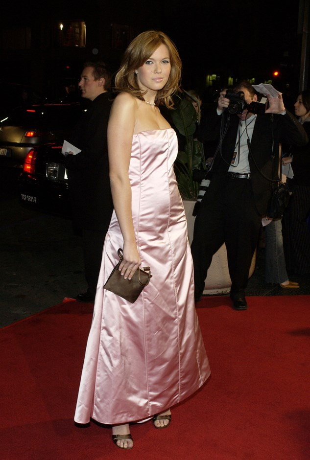 While we don't <em>hate</em> this pink strapless dress, we do hate the fact that no one took a steamer to it.