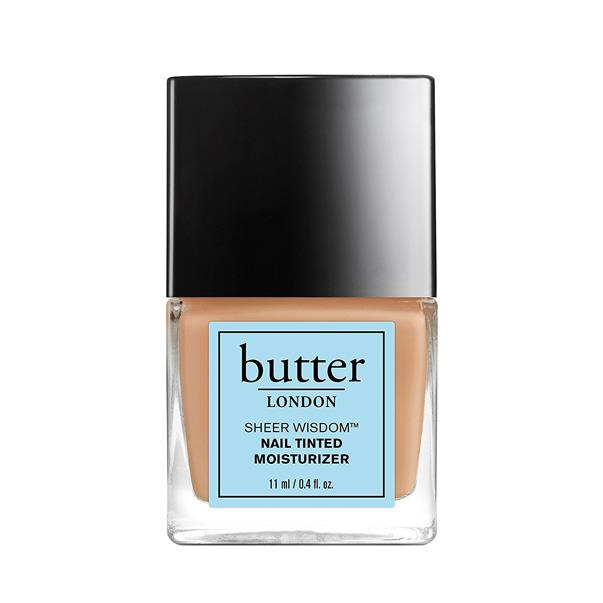 """BUTTER LONDON SHEER WISDOM NAIL TINTED MOISTURISER <br><br> Available in a myriad of shades to suit all skin tones, Butter London's barely-there tint not only provides nails with an intense hit of hydration, but lends  sheer wash of colour that is almost chiffon-like in its effect. <br><br> <a href=""""https://www.adorebeauty.com.au/butter-london.html"""">Adore Beauty, $25</a>"""