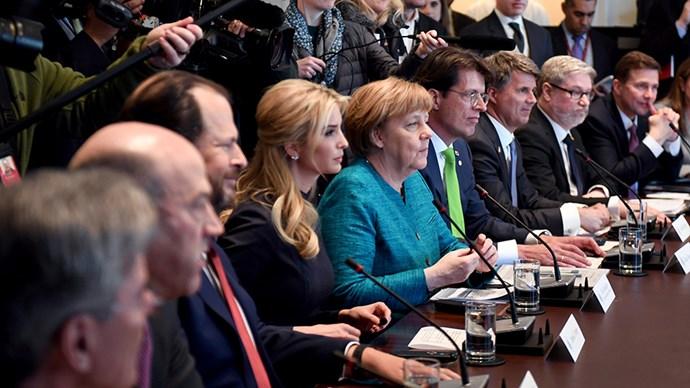 Ivanka Trump and Angela Merkel.