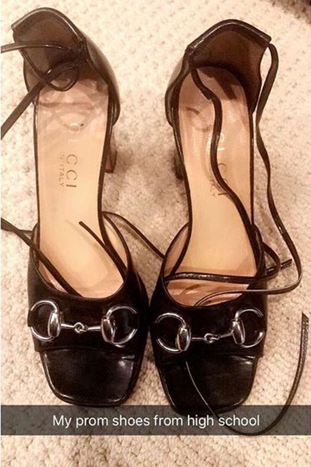 Kourtney Kardashian's shoes. Image via Snapchat
