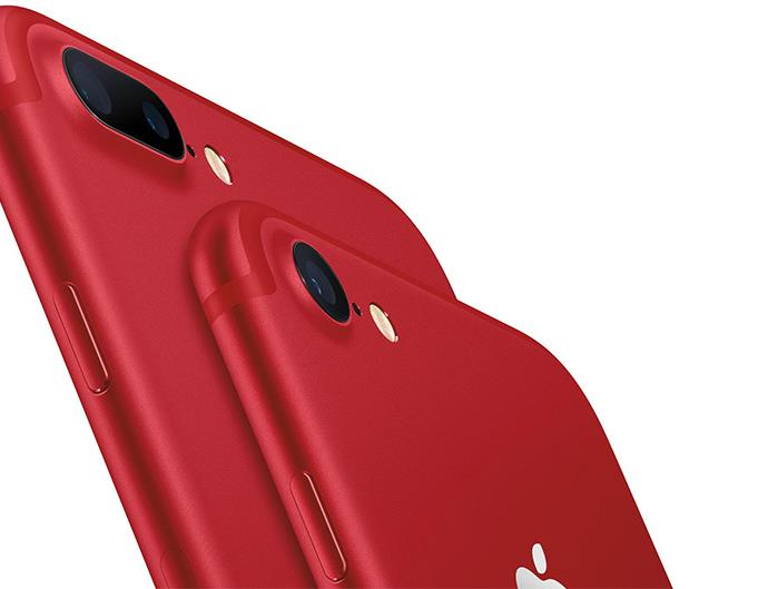 Red iPhone.