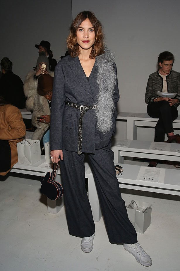 Alexa Chung, New York fashion week A/W '17