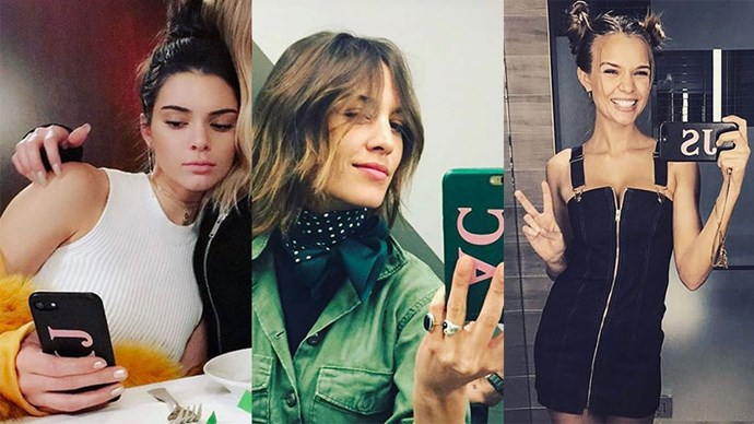 Models and fashion girls can't get enough of these $270 monogrammed phone cases—here, proof that you need one.