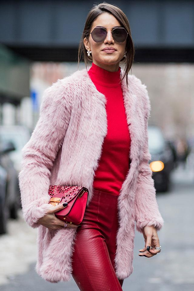 3. Shrug On Over A Monochrome Outfit (We Recommend Fire Engine Red) To Soften The Trend