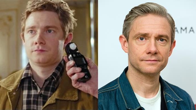 """<p><strong>Who:</strong> The body double who """"filled in for Brad Pitt once"""" and fell in love on set, played by Martin Freeman <BR><BR> <strong>Where are they now:</strong> Freeman went on to play Bilbo Baggins in Peter Jackson's <em>The Hobbit</em> trilogy. He also starred in <em>The Office </em>and <em>Fargo</em>."""