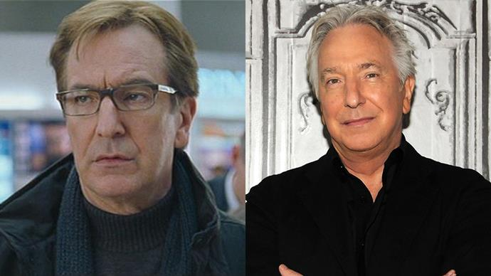 <p><strong>Who:</strong> The husband who was caught giving his receptionist a gold necklace, played by Alan Rickman. <BR><BR> <strong>Where is he now?</strong> Rickman continued to star in Harry Potter films until 2011. He also starred in <em>Eye in the Sky</em> and <em>Alice Through the Looking Glass</em>, before sadly passing away in January of 2016.