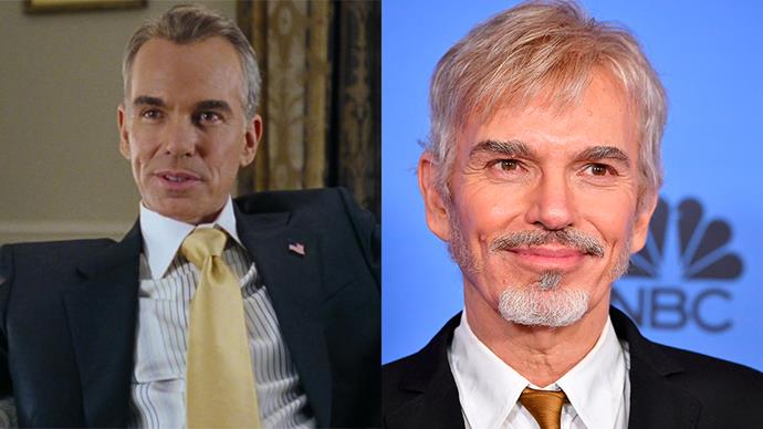 <p><strong>Who:</strong> The President of the United States and a big ol' sleazebag, played by Billy Bob Thornton. <BR><BR> <strong>Where is he now?</strong> Probably best known for his role on <em>Bad Santa</em> and <em>Bad Santa 2</em>, Thornton also starred in <em>Fargo </em>and <em>Entourage</em>.