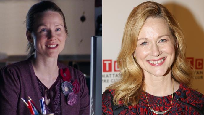 <p><strong>Who:</strong> The only character who didn't find love (and almost had it with actual god, to make things worse), played by Laura Linney. <BR><BR> <strong>Where is she now?</strong> Since Love Actually, she's starred in films such as <em>Sully, Nocturnal Animals</em> and <em>Genius</em>.