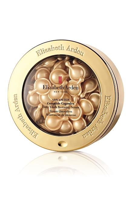 """In case you missed the memo, pre-portioned skincare is where it's at. These new cult capsules deliver a hit of ceramides, potent botanicals and sea fennel extract to nix and fix wrinkles, dullness, sagging and any other skin ageing gripe you may have. Three cheers. <br><br>Psst. Join the <em>ELLE</em> beauty team and Elizabeth Arden National Makeup Artist Stephen Gaskett at a Sydney beauty workshop on Thursday, April 6 at 6pm. To register for a place, send your name and contact details to <strong>elizabethardenelle@bauer-media.com.au</strong>. <br><br>Advanced Ceramide Capsules Daily Youth Restoring Serum, $140, <a href=""""http://www.elizabetharden.com.au/product/9/Ceramide-Capsules-Daily-Youth-Restoring-Serum/"""">Elizabeth Arden</a>"""