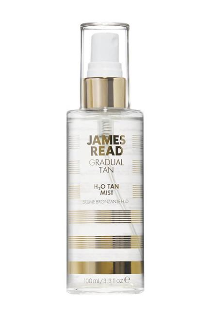 """The fastest and most fuss-free way to tan; this organic rose water face mist gradually builds a subtle, even just-back-from-Bali golden glow that you can adjust and deepen with a couple of extra spritzes 2-3 times a week. Genius, indeed. <br><br>H2O Tan Mist, $36, <a href=""""http://mecca.com.au/james-read-tan/h2o-tan-mist/I-024732.html"""">James Read Tan at Mecca Cosmetica</a>"""
