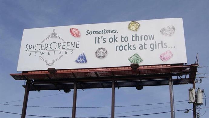 Spicer Greene Jewelers Billboard Ad