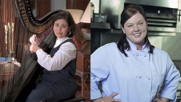"<p><strong>Sookie St. James on <em>Gilmore Girls</em></strong> <p>Played by: Melissa McCarthy <p>Originally played by: Alex Borstein <p>It's hard to imagine Stars Hollow if Melissa McCarthy hadn't been cast as Sookie, but comedian Alex Borstein was set to play the chef, who happens to be Lorelai's best friend. Alex still had involvement with the show, though, as she played not one, but <a href=""https://www.youtube.com/watch?v=-sjbRj8v7Q8"" target=""_blank"">two characters</a> further down the track: Drella, the harpist at the Independence Inn, and Miss Celine, Emily Gilmore's stylist."