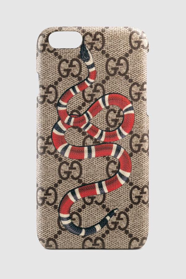 """<strong>Gucci</strong> <p><p> Rather surprisingly Gucci's cases are a lot easier to get your hands on, as they come in at just over <a href=""""https://www.gucci.com/us/en/pr/men/mens-accessories/mens-small-accessories-tech/mens-technology/snake-print-iphone-6-plus-case-p-451282K510N8919?position=32&listName=ProductGridComponent&categoryPath=Men/Mens-Accessories/Mens-Small-Accessories-Tech"""">$290 AUD</a>. They are FIERCE with designs made up of snakes, tigers and other wildlife that would normally give us the heebie jeebies, but somehow they don't."""