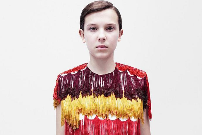 <p><em>Millie Bobby Brown for Calvin Klein</em><p> Although Millie only just sneaks into the 'millennial' bracket (being born in 2004—oh <em>god</em>—which is the cut-off year), her team-up with Calvin Klein puts her in our good books.