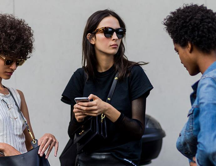 Models on phones
